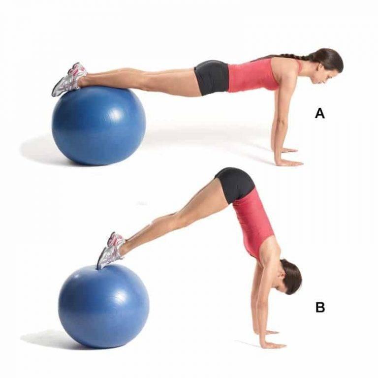 Упражнения на фитболе для пресса и ягодиц