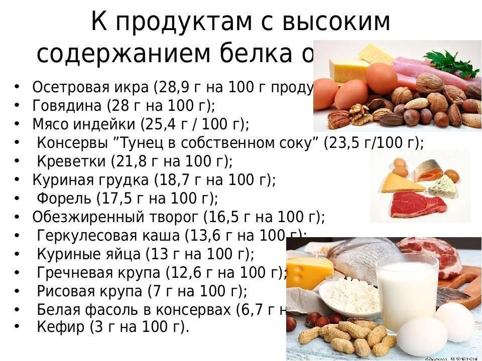 Продукты с высоким содержанием белка (протеина): топ-10