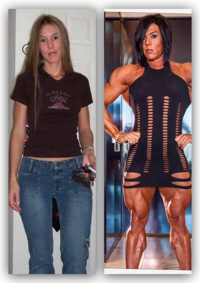 8 невероятных женщин до и после стероидов: фото изменений