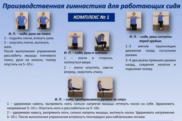 Производственная гимнастика: упражнения, значение