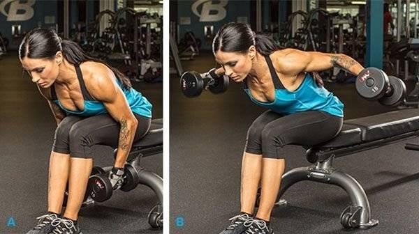 Махи в стороны с гантелями. отличное упражнение для роста плеч!