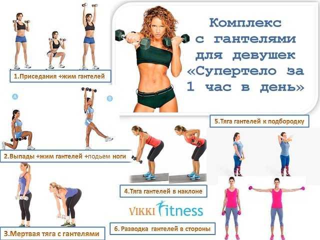 Комплексы упражнений с гантелями для девушек