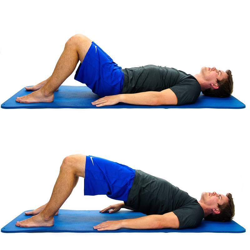 Упражнение ягодичный мостик — подъем таза из положения лежа | power-body.ru