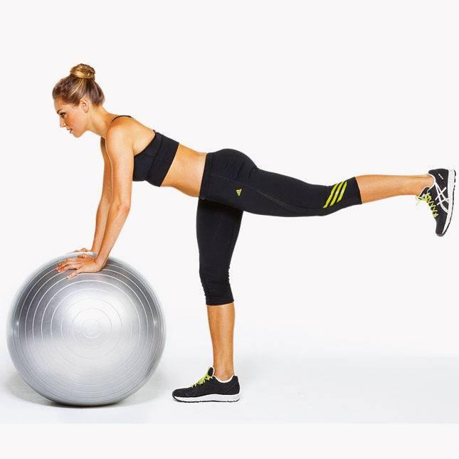 Упражнения на фитболе для похудения живота, ног, ягодиц, рук, ног