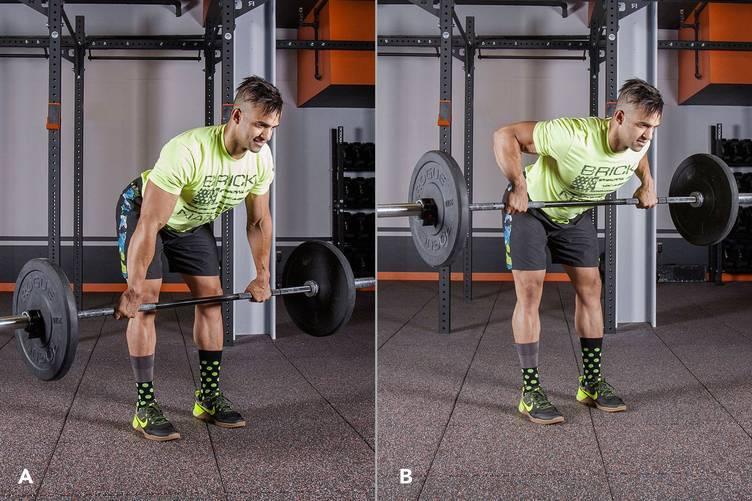 Тяга штанги в наклоне — лучшее упражнение для прокачки спины