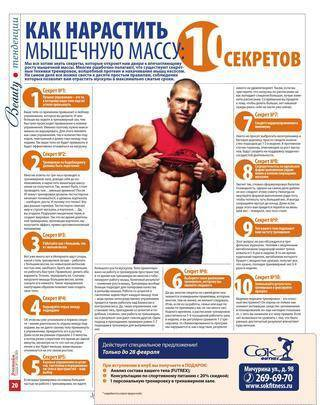 Программы тренировок для набора массы