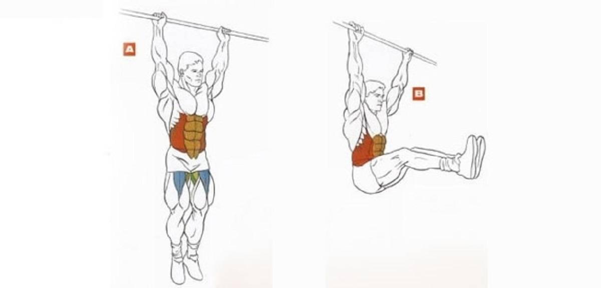 Подъём ног в висе: техника выполнения, вариации, противопоказания, видео