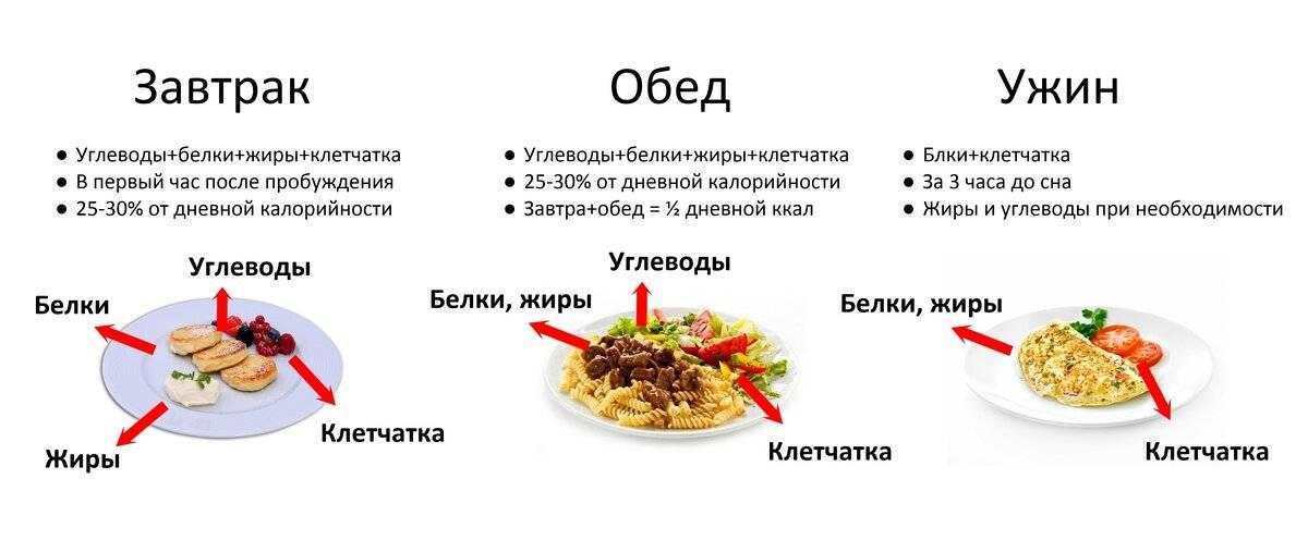 Как правильно употреблять продукты в течение дня?