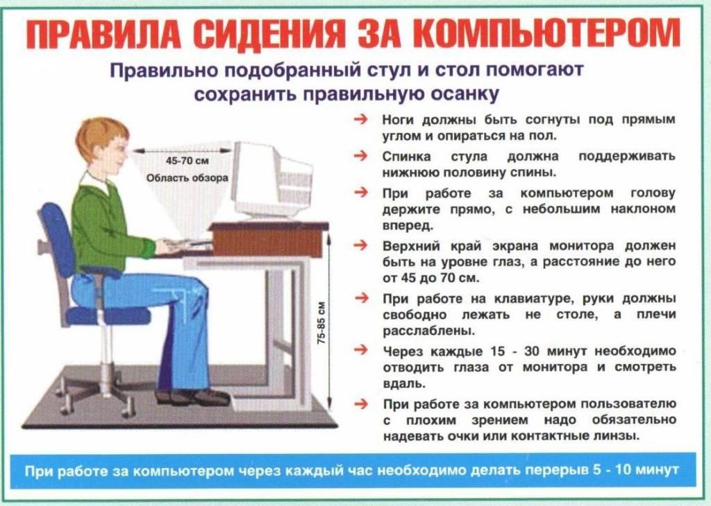 Как сохранить зрение за компьютером?