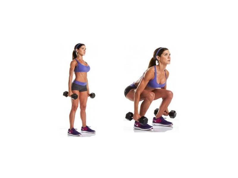 Упражнения на ноги и ягодицы с гантелями: комплекс для женщин и мужчин