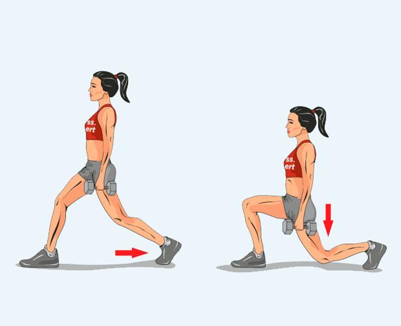 Выпады со штангой: техника выполнения выпадов со штангой на плечах для мужчин и женщин