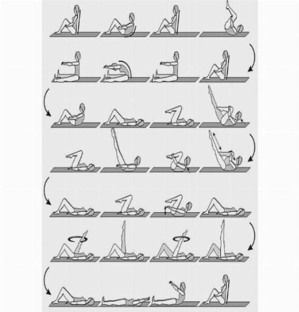 Топ-60 лучших упражнений из пилатеса в гифках для всех проблемных зон