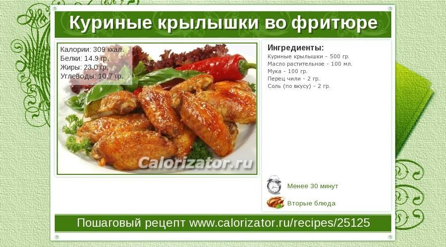 Куриные крылышки — сколько калорий и вредны ли они?