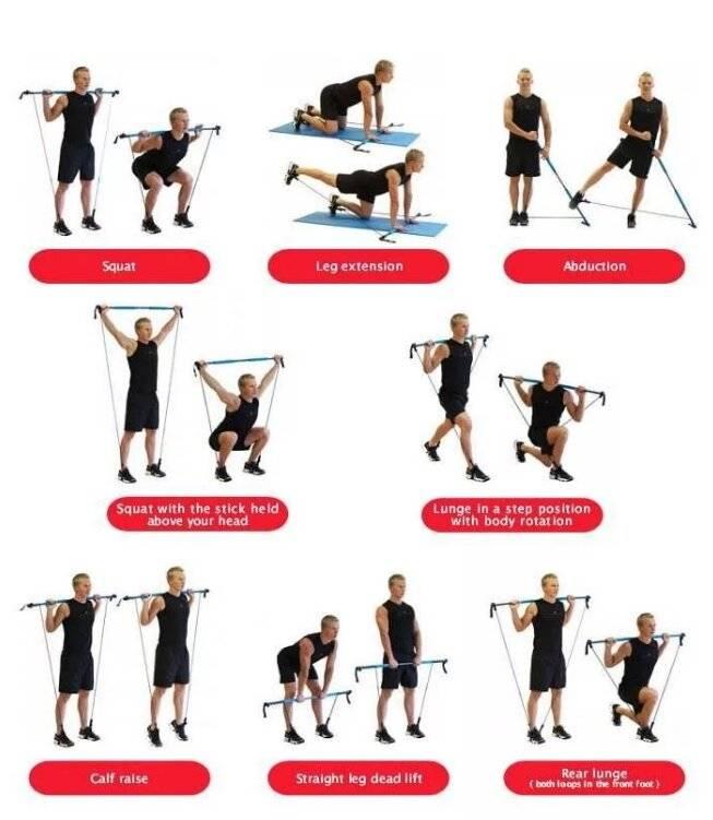 Упражнение с эспандером. как выбрать трубчатый эспандер