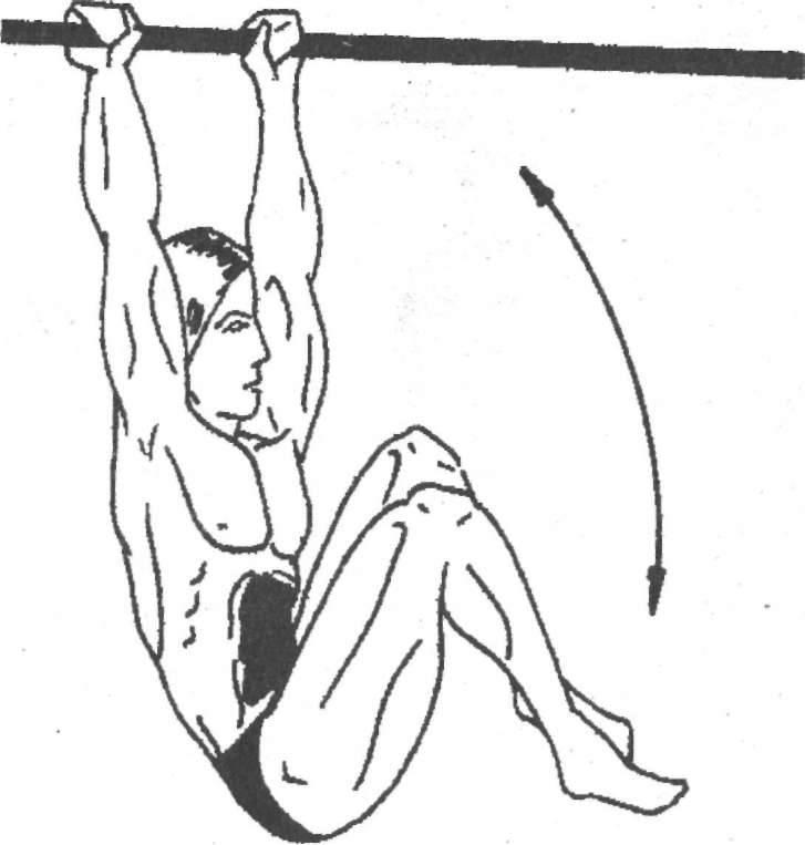Подъём ног в висе на перекладине