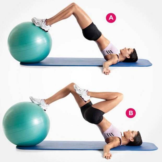 Упражнения на фитболе для ягодиц считается одним из самых эффективных для прокачки мышц попы и бедер