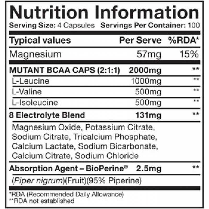 Mutant bcaa 200 капс (mutant) купить в москве по низкой цене – магазин спортивного питания pitprofi