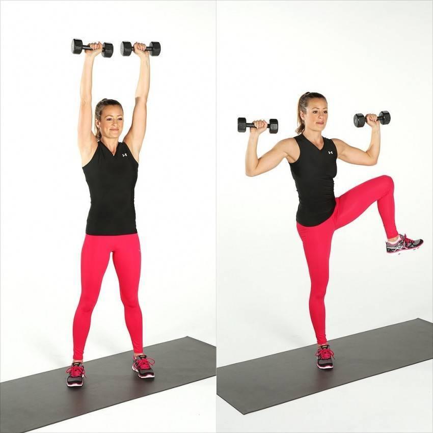 Упражнения с гантелями женщинам для похудения дома