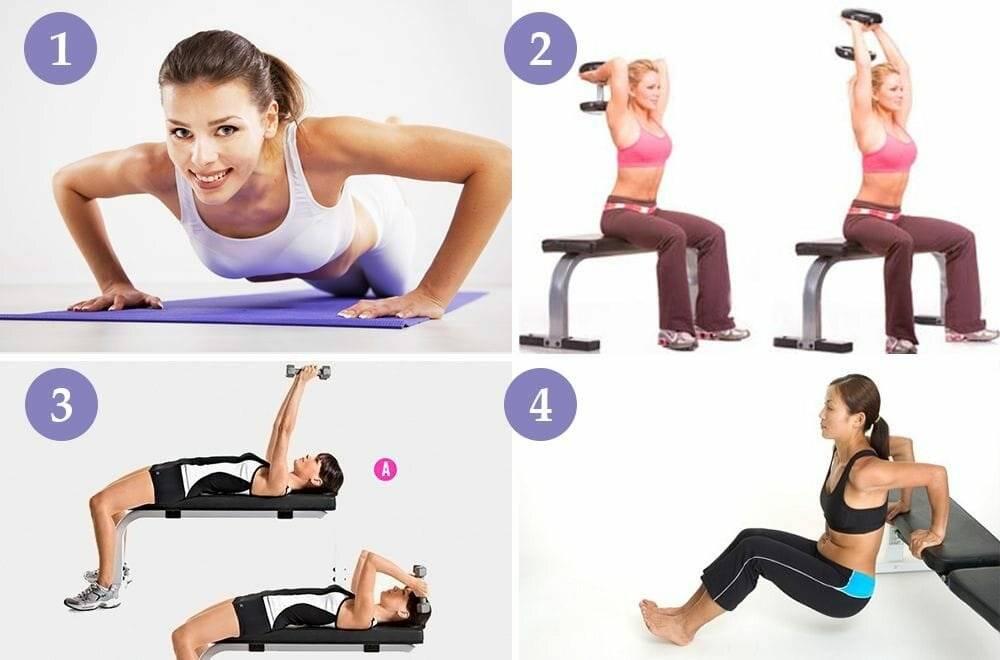 Упражнения для похудения рук и плеч, чтобы не висела кожа
