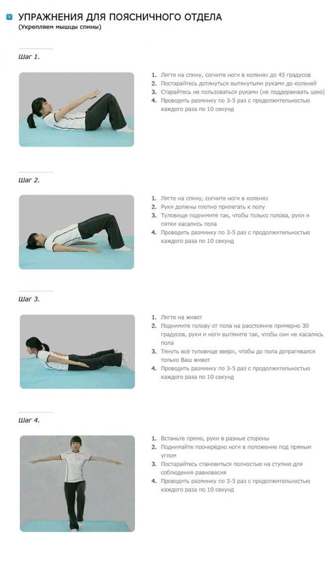 Лучшие упражнения от болей в пояснице: комплекс на укрепление мышц и устранение боли