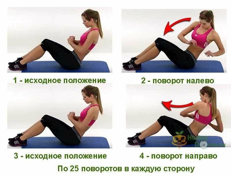 Как убрать бока на талии в домашних условиях: самые эффективные упражнения - tony.ru
