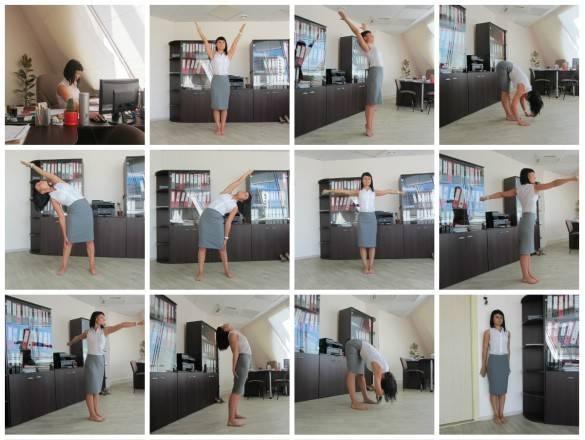 Офисная гимнастика: комплекс упражнений