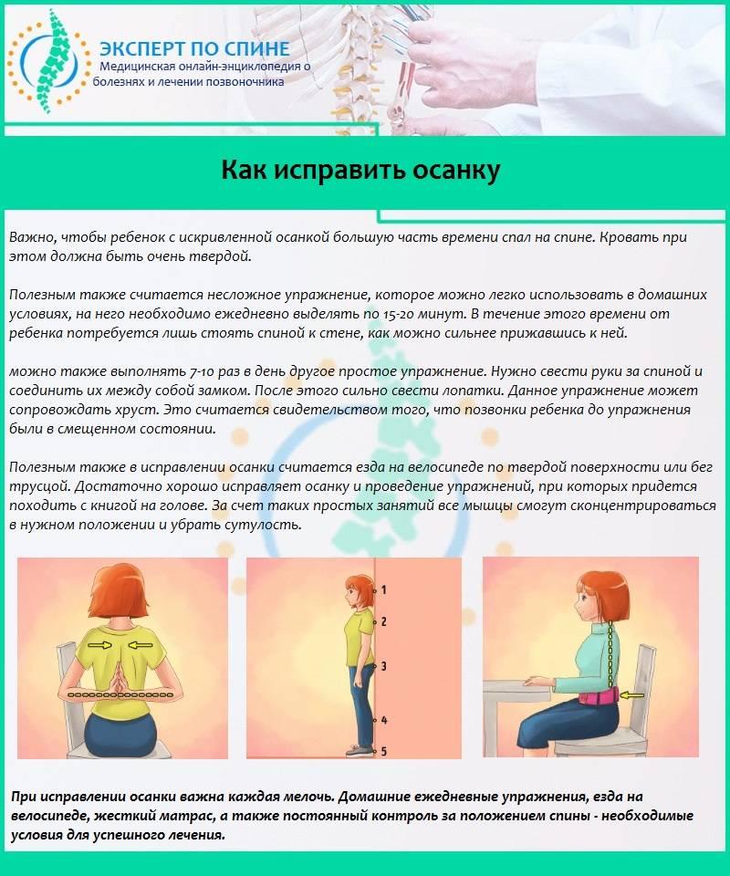 Самые лучшие упражнения от сутулости спины в домашних условиях