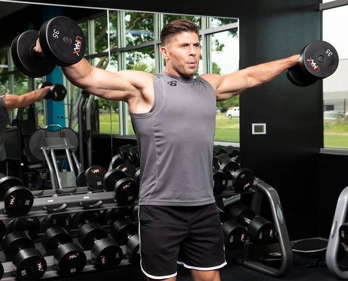 Упражнения суперсета на плечи и дельты