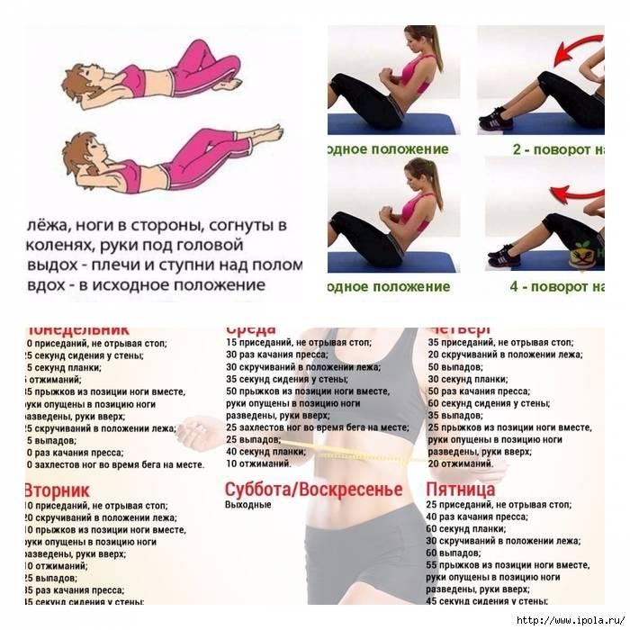 Как сделать осиную талию в домашних условиях за неделю: упражнения