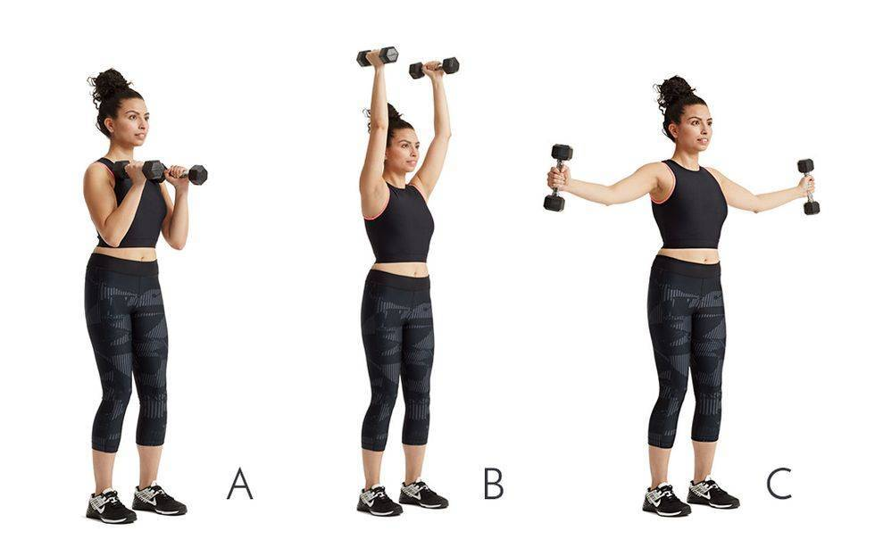 Эффективные упражнения с гантелями для девушек