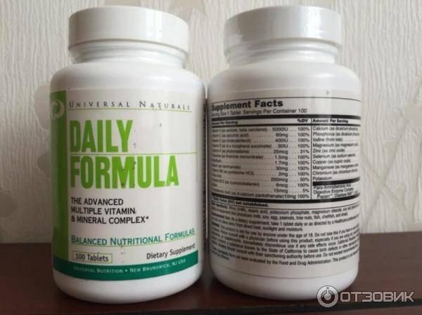 Daily formula от universal nutrition: польза и вред, состав, как принимать витамины