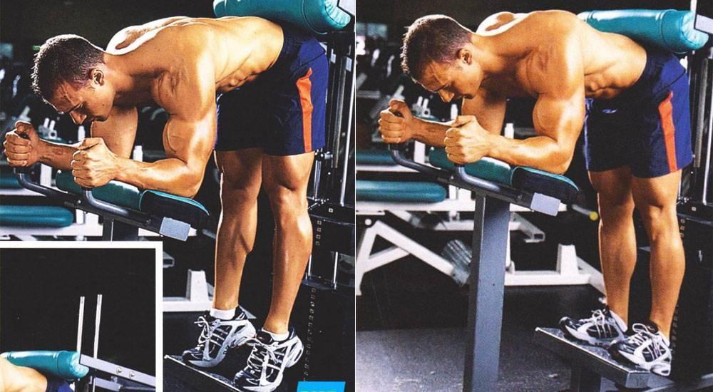 Качаем икроножные мышцы, выполняя упражнение ослик