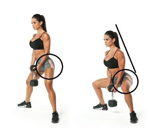 Техника приседаний плие с гантелью или другим весом