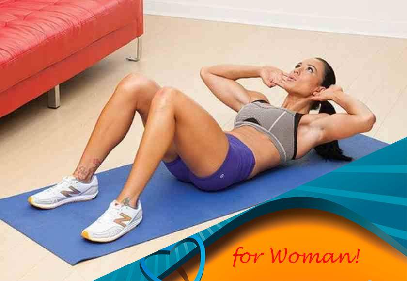 Скручивания лежа на полу: видео и фото упражнения
