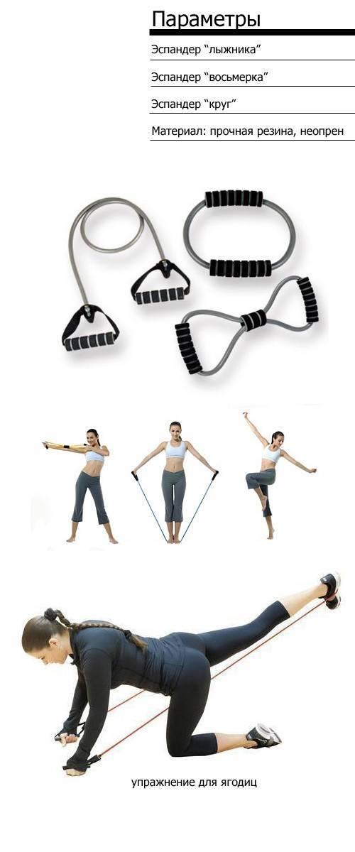Комплекс упражнений с пружинным эспандером для мужчин и женщин