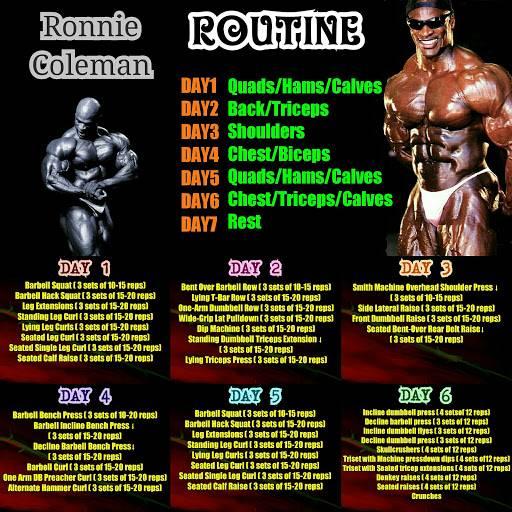 Ронни колеман- биография, травмы, тренировки, фото и видео