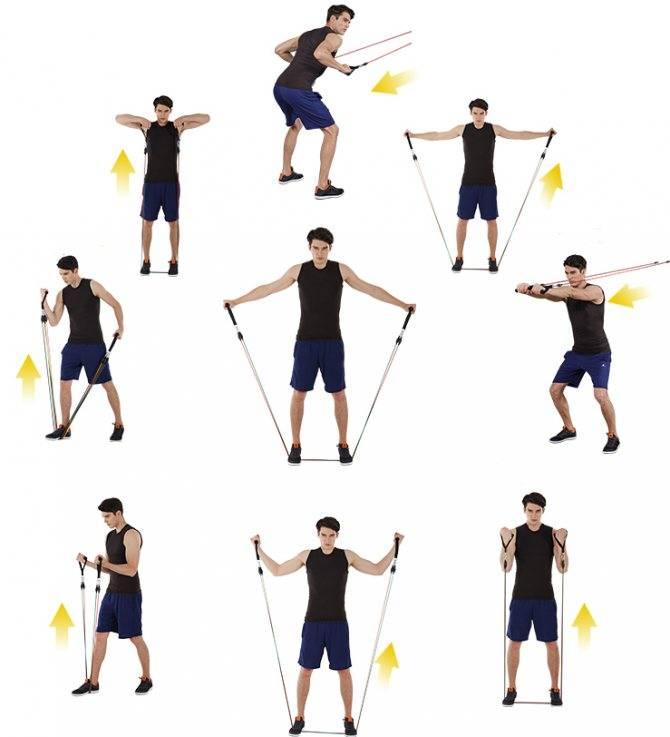 Комплексупражнений с эспандером для мужчин