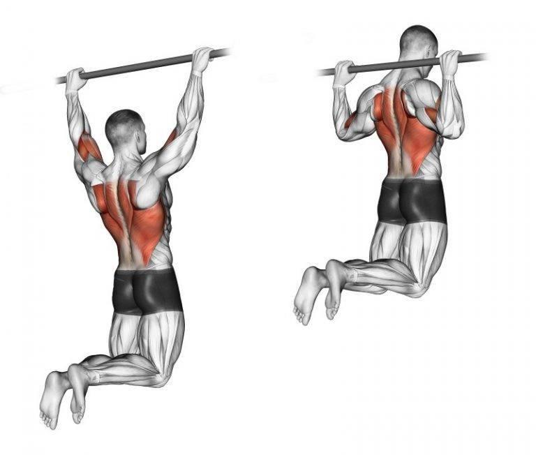 Подтягивания с отягощением на массу. упражнение которое отлично качает спину