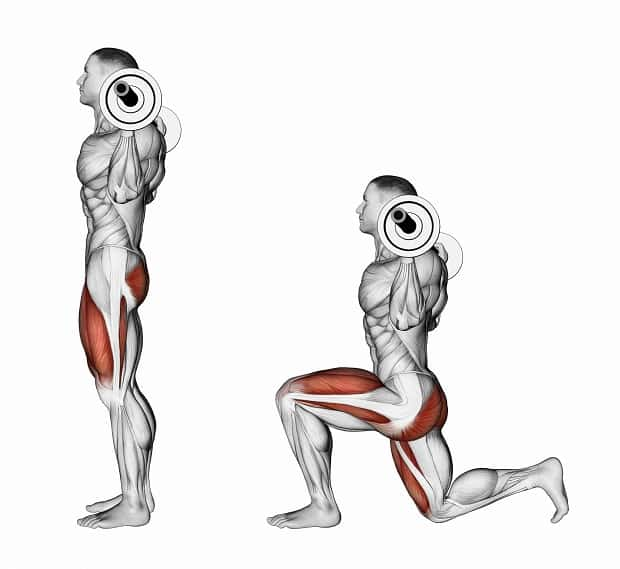 Выпады со штангой в стороны: техника выполнения упражнения