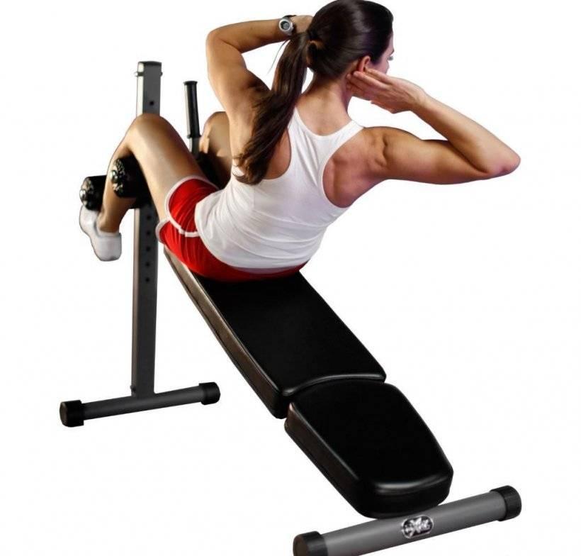 Упражнения на пресс на скамье: как правильно качать мышцы живота на наклонной доске