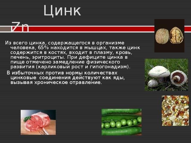 Цинк и иммунитет: роль цинка в организме