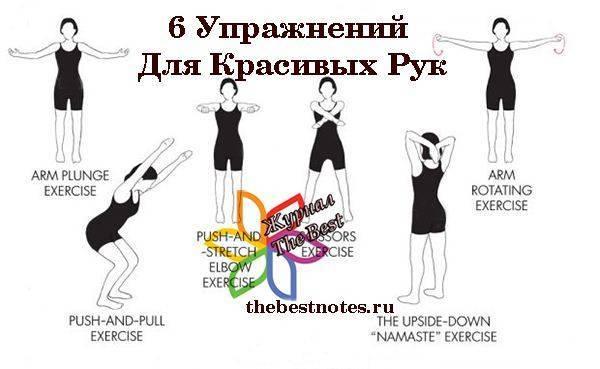 Упражнения для похудения рук и плеч в домашних условиях: видео