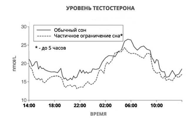 Продолжительность сна влияет на уровень тестостерона