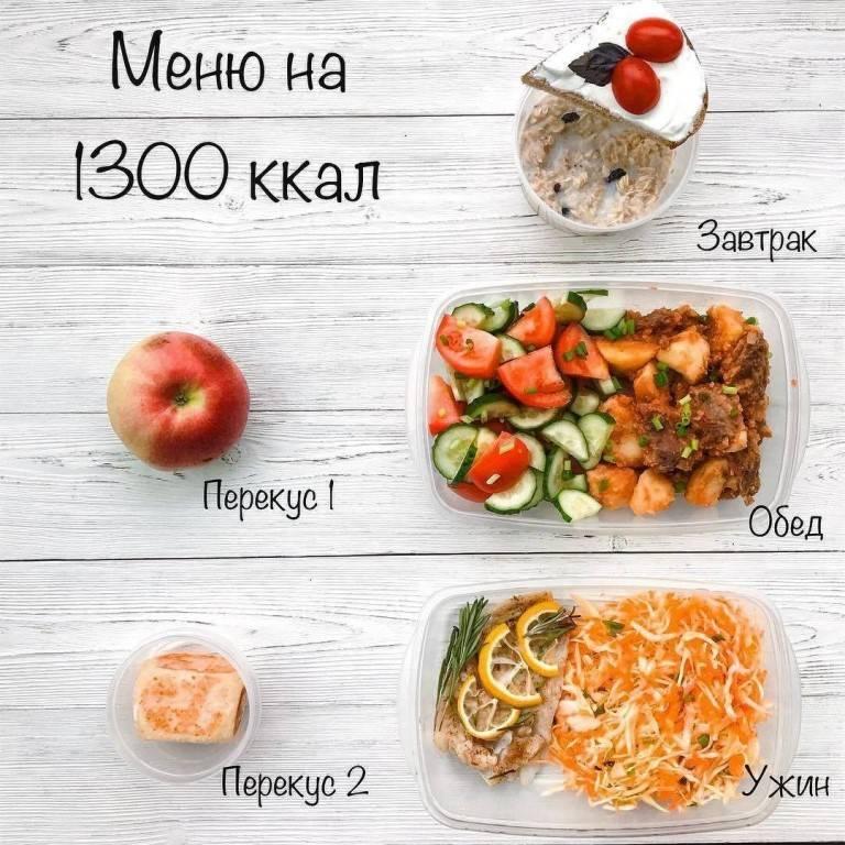Подробное меню на 1500 калорий в день из простых продуктов