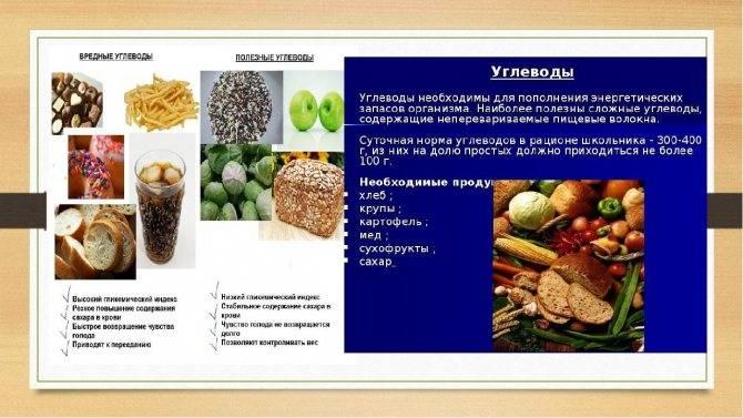 Углеводные продукты список углеводных продуктов: таблица и суточная норма