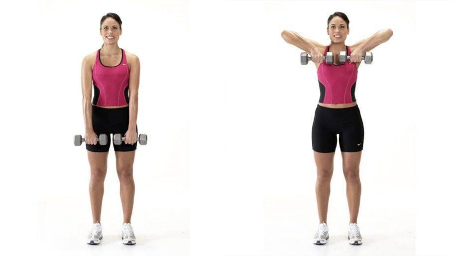 Упражнения для спины с гантелями в домашних условиях для женщин и мужчин