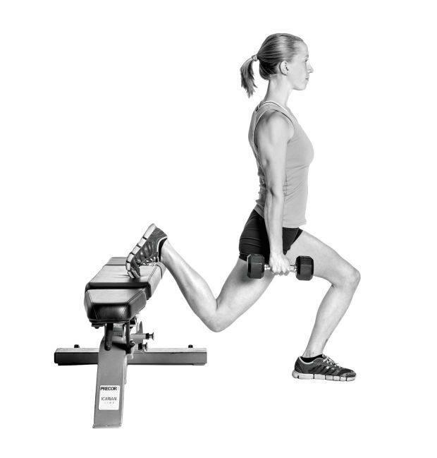 Выпады с гантелями: техника выполнения, какие мышцы работают, виды выпадов