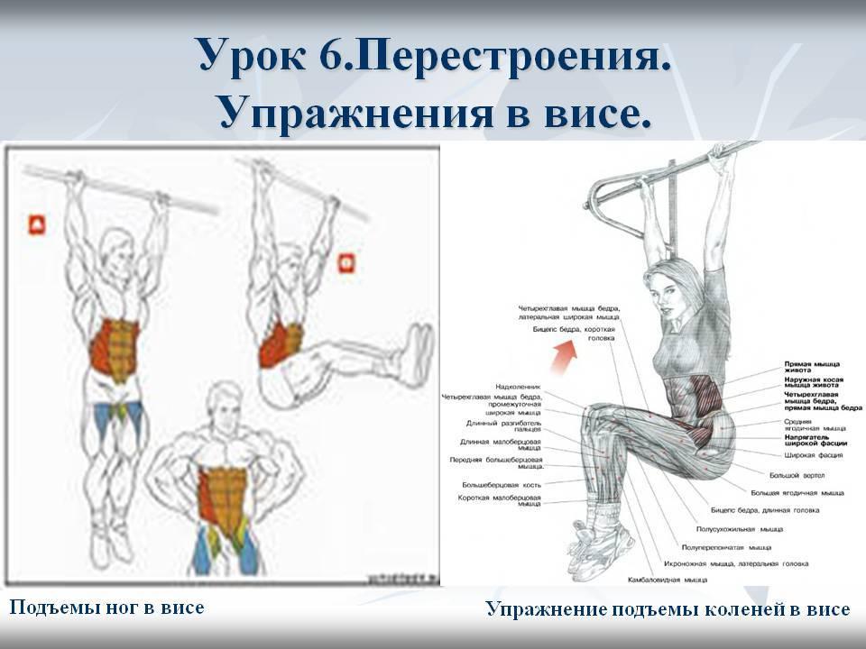 Как правильно поднимать ноги в висе для прокачки мышц пресса?