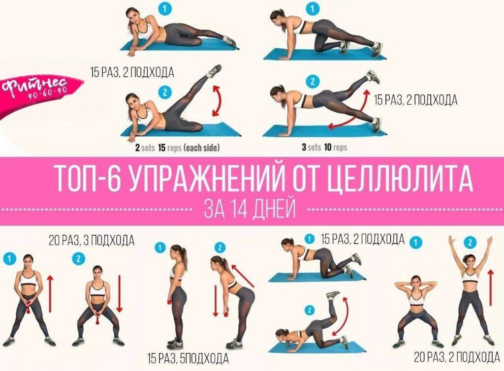 Эффективные упражнения от целлюлита на ногах и попе ( лучшие 15-минутные комплексы)