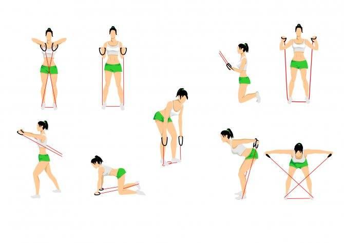 Трубчатый эспандер: плюсы и минусы, как выбрать + 30 упражнений (фото)